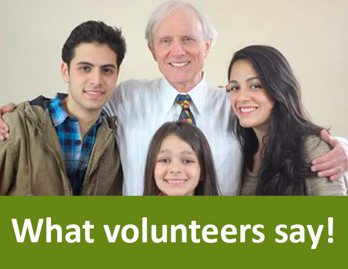 what volunteers say